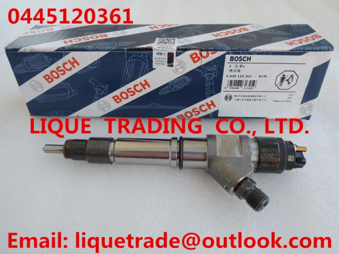 BOSCH 0445120361 Common rail injector 0445120361 for SAIC-IVECO HONGYAN 5801479314