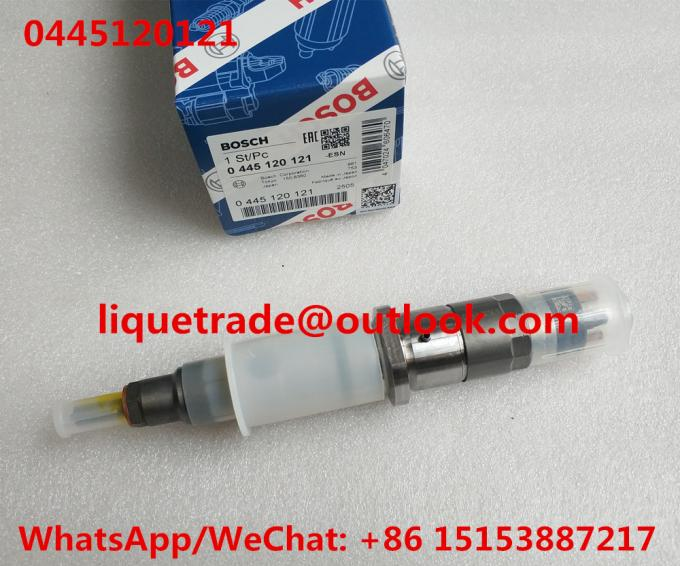 BOSCH Common rail injector 0445120121 ,  0 445 120 121 ,  0445 120 121 , 4940640 for Cummins ISLE engine