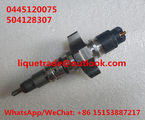 China BOSCH Common Rail Injector 0445120075 , 0 445 120 075 for IVECO 504128307, CASE NEW HOLLAND 2855135 supplier