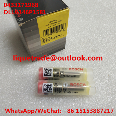 China BOSCH Genuine fuel nozzle DLLA146P1581, 0433171968 , DLLA 146 P 1581, 0 433 171 968 for 0445120067, 04290987, 20798683 supplier