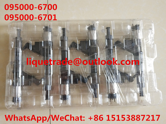China DENSO common rail injector 095000-6700 , 095000-6701 for SINOTRUK HOWO VG61540080017A / R61540080017A / 150100106800 supplier
