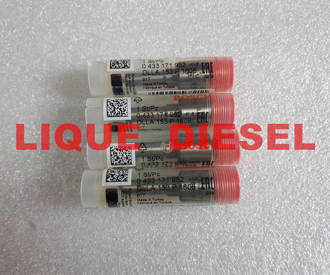 China BOSCH injector nozzle P160 0433171982, 0 433 171 982, 433171982, DLLA153P1608, DLLA 153 P 1608 for 0445110274 0445110275 supplier