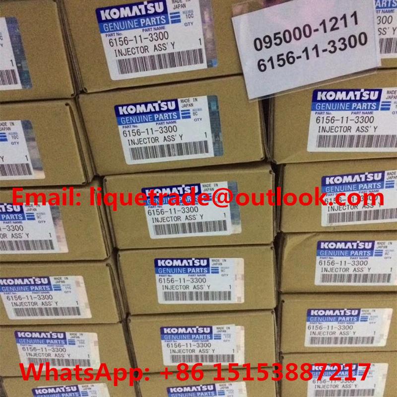 DENSO Common Rail Injector 095000-1211 for Komatsu 6156-11-3300