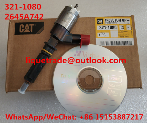 China CAT Common Rail Fuel Injector 321-1080 / 3211080 / 2645A742 For Caterpillar CAT Injector 321 1080 distributor