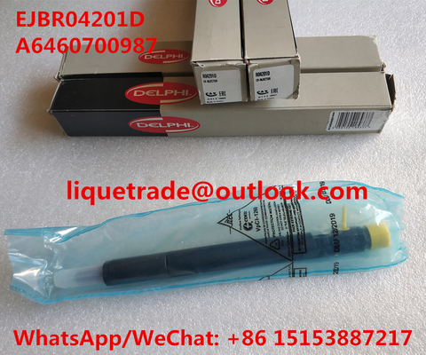 China DELPHI common rail injector EJBR04201D , R04201D for Mercedes Benz A6460700987 distributor
