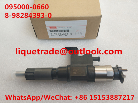 China DENSO Genuine & New injector 095000-0660 for ISUZU 4HK1, 6HK1 8982843930, 8-98284393-0, 8982843931 distributor