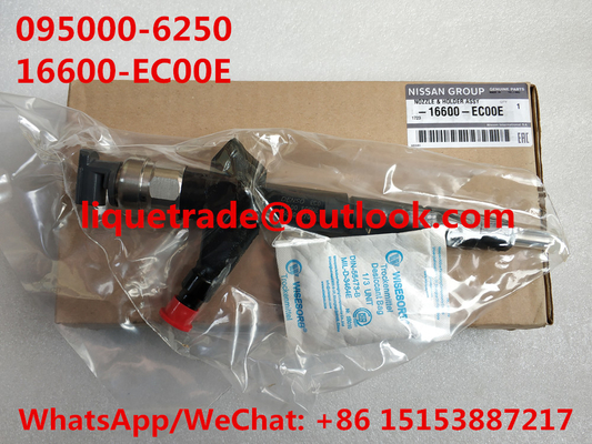 China DENSO common rail injector 16600-EC00E, 16600EC00E , 095000-6250, 095000-6252, for NISSAN 16600-EB70A ,16600-EB70D distributor