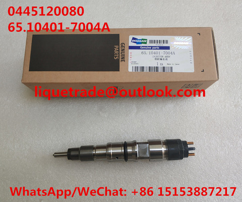 China BOSCH Common rail injector 0445120080 , 0 445 120 080 , 0445 120 080 for DAEWOO DOOSAN DL06S 65.10401-7004A distributor