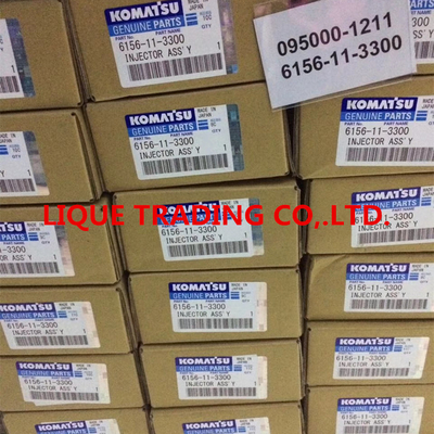 China DENSO Common Rail Injector 095000-1211 , 095000-1210 for Komatsu 6156-11-3300 , 6156113300 distributor