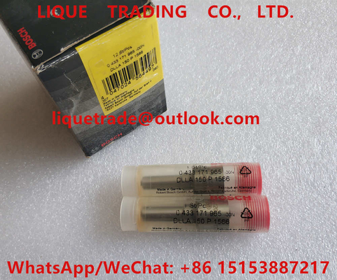 China BOSCH injector nozzle 0433171965 , DLLA150P1566 , 0 433 171 965 , DLLA 150 P 1566 , 433171965 factory