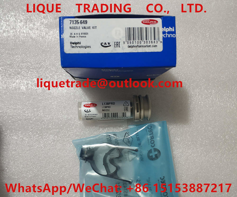 China DELPHI nozzle valve kit 7135-649 (include nozzle L138PRD + valve 9308-621C / 28538389 ) Overhaul kits 7135 649 , 7135649 distributor